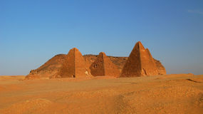 Jebel Barkal and Pyramids, Karima. Nubia, Sudan. Jebel Barkal mountain and Pyramids, Karima Nubia, Sudan stock photo