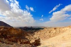 Jebel Hafeet谷 免版税库存图片