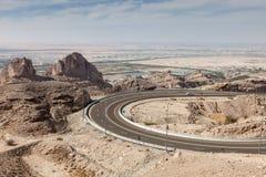 Jebel Hafeet mountain road. Al Ain, UAE Stock Photography