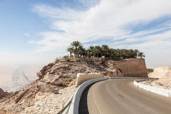 Jebel Hafeet mountain road Stock Image