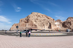 Jebel Hafeet mountains in Al Ain, UAE Royalty Free Stock Photography