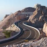 Jebel Hafeet väg Fotografering för Bildbyråer