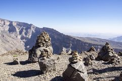 Jebel oszusci - sułtanat Oman zdjęcie royalty free
