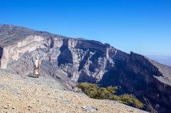 Jebel oszusci - sułtanat Oman obraz stock