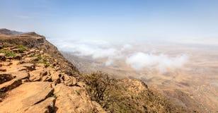Jebel Samhan, Oman. Scenic view from Jebel Samhan - an elevated plateau near Salalah, Oman stock photos