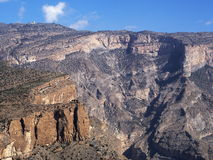Jebel Shams. Grand Canyon of Middle East Royalty Free Stock Photo