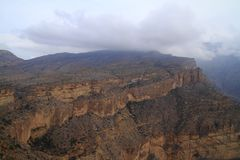 Jebel Shams. Grand Canyon of Oman stock photos
