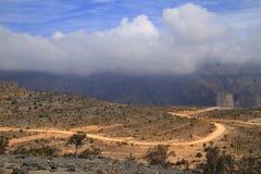Jebel Shams. Grand Canyon of Oman royalty free stock image