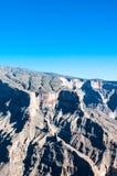 Jebel Shams, höchster Berg von Mittlerem Osten, Oman Lizenzfreies Stockfoto