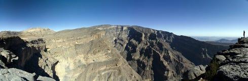 Jebel Shams mountain, Oman. Grand Canyon of Oman, Jebel Shams mountain royalty free stock photo