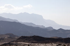 Jebel Shams mountains in Oman Royalty Free Stock Photo