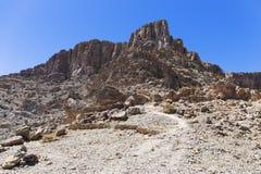Jebel Shams,Oman. Jebel Shams canyon,Al Hajar Mountains in Oman stock images