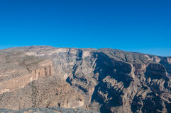 Jebel Shams, tallest mountain of Middle-East, Oman Royalty Free Stock Photos