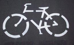Jechać na rowerze ścieżki ikonę Obraz Stock