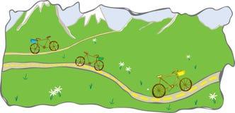 jechać na rowerze halną drogową dolinę Zdjęcia Stock