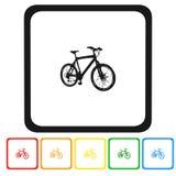 Jechać na rowerze ikonę, znak, 3D ilustracja, najlepszy ikona Obraz Royalty Free
