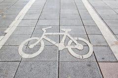 jechać na rowerze znaka Zdjęcie Royalty Free