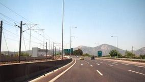 Jechać podczas dnia na autostradzie zbiory wideo