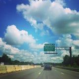Jechać wzdłuż autostrady Fotografia Royalty Free