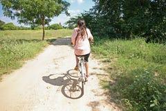 Jechać na rowerze Bagan równiny Obraz Stock
