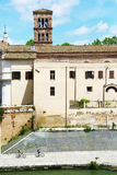 Jechać na rowerze na Tiber brzeg rzeki, Rzym Obrazy Royalty Free