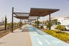 Jechać na rowerze pas ruchu w San Pedro De Alcantara, Hiszpania Obraz Royalty Free