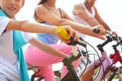 jechać na rowerze rodziny Obraz Royalty Free