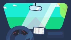 Jechać na samochodowej animaci zbiory