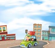 Jechać w City Road ilustracja wektor