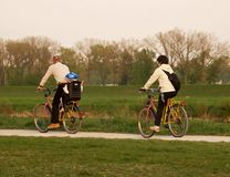 jedź rodzinna rower obraz royalty free