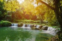 Jed-Sao-Noi Little Seven-girl Waterfall at Saraburi, THAILAND Stock Image