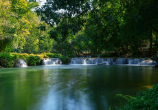 Jed sao noi water falls national park in sraburi province centra Stock Images