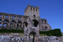 Jedburgh修道院在Jedburgh苏格兰 库存照片