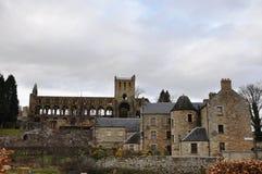 Jedburgh修道院废墟 库存照片