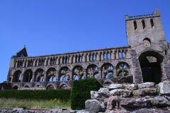 Jedburgh Abbey in Jedburgh Scotland. stock photo