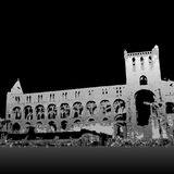 Jedburgh Abbey ruins. Graphic depiction of the ruins of Jedburgh Abbey in Scotland Royalty Free Stock Photos