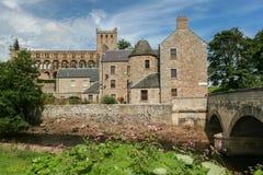 Jedburgh Abbey Scotland. Beautiful and historic abbey in Jedburgh Scotland stock photo