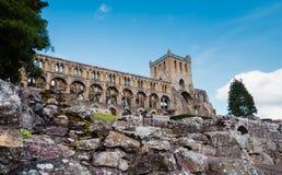 Jedburgh abbotskloster, Skottland Arkivbild
