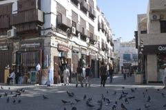 Jedda viejo Balad el viejo mercado en Jedda Era del pre-Islam, Saud imagen de archivo