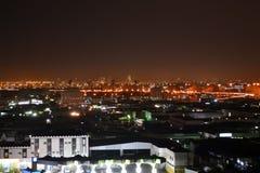 Jeddah bij nacht Stock Fotografie