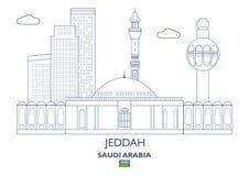 Jeddah City Skyline, Saudi Arabia Royalty Free Stock Photos