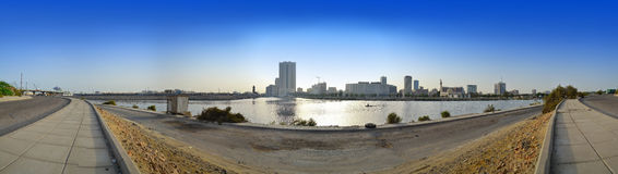 Jeddah downtown at daylight. In panoramic view Royalty Free Stock Image