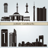 Jeddah landmarks and monuments Royalty Free Stock Photos