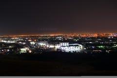 Jeddah na noite imagem de stock royalty free