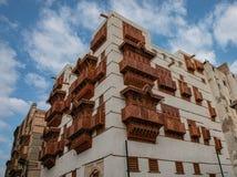 Free Jeddah Neighborhood Historical City Of JeddahIn A Cloudy Skyold House . Saudi Heritage Stock Photography - 188144982