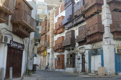 Jeddah Old City Buildings and Streets royalty free stock photo