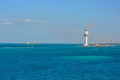 Jeddah Port Control Tower. Jeddah Light (Jeddah Port Control Tower) is an active lighthouse in Jeddah, Saudi Arabia. With a height of approximately 113 Stock Photos