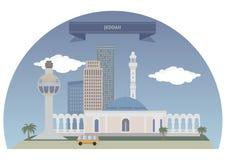 Jeddah, Saudi-Arabië royalty-vrije illustratie