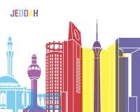 Jeddah skyline pop Royalty Free Stock Images
