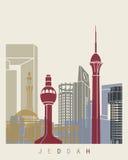 Jeddah skyline poster Royalty Free Stock Image